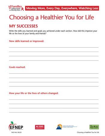 EFNEP_Handout-Healthier_You_Success
