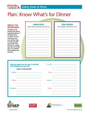 EFNEP_Handout-Plan_Dinner
