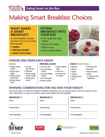 EFNEP_Handout-Smart_Breakfast