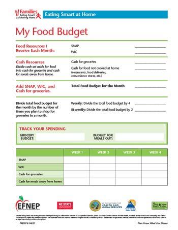 My Food Budget