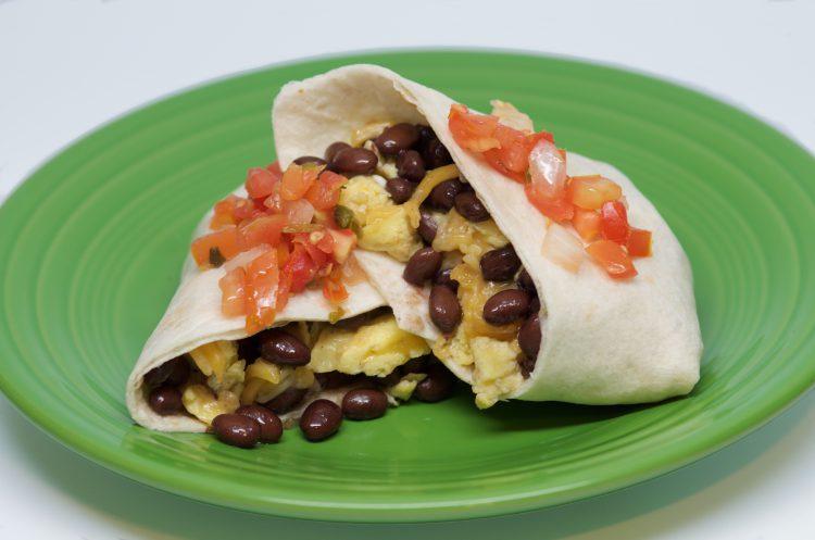 Breakfast-Bean-Burrito-with-Eggs