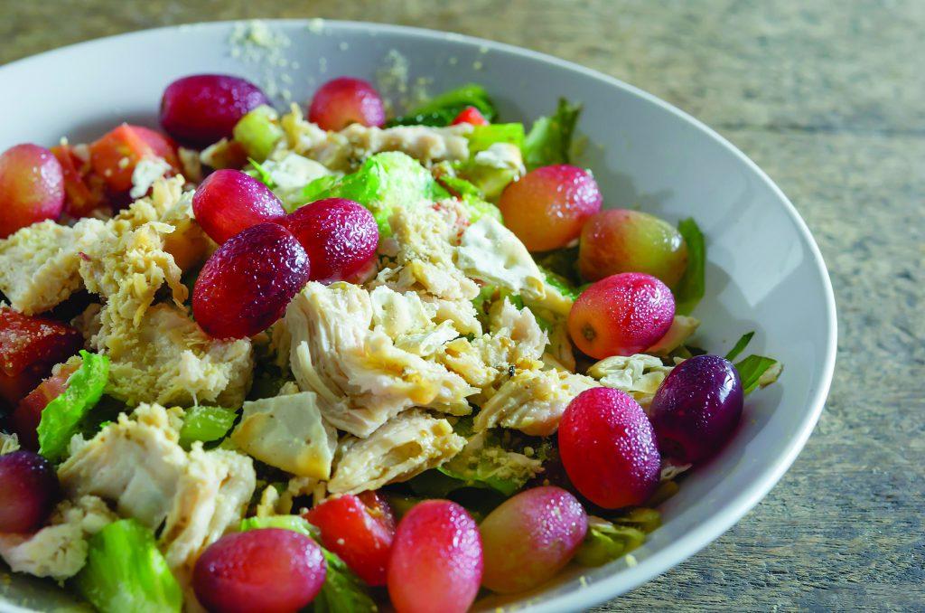 chicken salad in a bowl