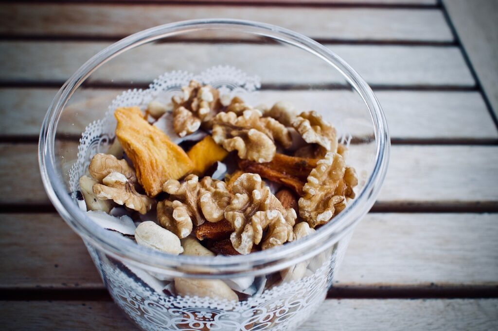 snack cup with dried fruit